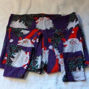 LulaRoe Tall and Curvy Santa Holiday Leggings